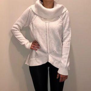 LOFT Ann Taylor white sweater